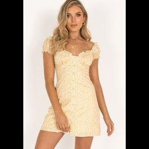 Sundae Muse Yasmin yellow dress au 6 is xs/s NWT